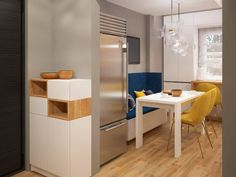Bucatarie simpla, cu rafinament - Proiecte | ArtDecor House Minimal Kitchen Design, Art Decor, Home Decor, Kitchen Interior, House, Table, Furniture, Houses, Minimalist