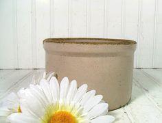 Vintage StoneWare Crock  Portly Short Bisque Glaze by DivineOrders, $22.00