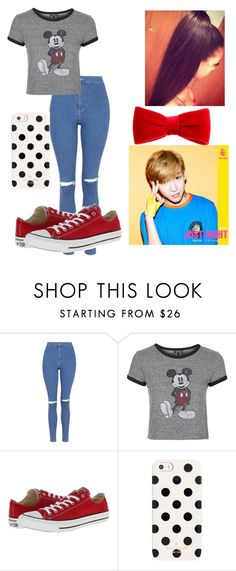 """Hanging Out with BamBam"" by pandagirl2102 ❤ liked on Polyvore featuring Bambam, Topshop, Converse, Kate Spade, claire's, women's clothing, women, female, woman and misses"