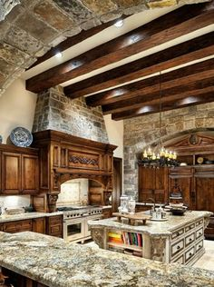 Rustic kitchen design ideas do have baskets to place everything like vegetables, fruits to breads. These baskets can be easily cleaned and reused for varied purposes in future. 10 Easy DIY Rustic Kitchen ideas you can copy for your kitchen area Rustic Kitchen Design, Kitchen Layout, Country Kitchen, Kitchen Wood, Kitchen Decor, Stone Kitchen, Kitchen Ideas, Kitchen Cabinets, Granite Kitchen