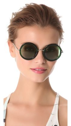 c489d97270e0 Linda Farrow for The Row Round Sunglasses Cheap Ray Ban Sunglasses
