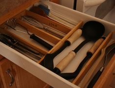 DIY kitchen drawer organizer. So simple and super CHEAP!