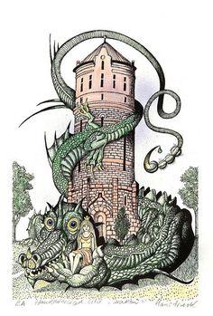 John Bauer, Creepy Horror, Best Artist, Trippy, Graphic Art, Graphic Design, Adult Coloring, Color Inspiration, Vintage Art