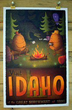 11x17 Idaho Tourism Print by dpsullivan on Etsy, $15.00. I LOVE this!!!