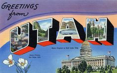 Greetings from Utah - Large Letter Postcard by Shook Photos, via Flickr