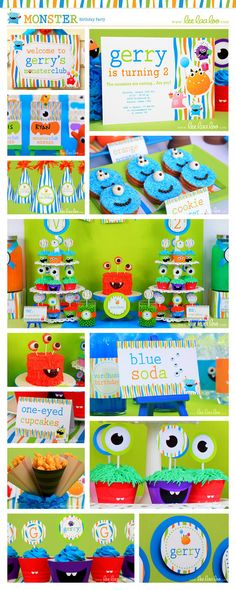 Monster Birthday Party Theme ♥ Designs Party Styling by LeeLaaLoo ♥ Shop Here: https://www.etsy.com/shop/LeeLaaLoo/search?search_query=b5order=date_descview_type=galleryref=shop_search