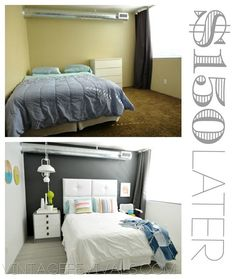 $150 Before and After Room Makeover from Vintage Revivials