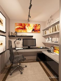 Nice small home office - practical setup