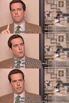 """Your status is single.   Community Post: 20 Signs You're Andy Bernard From """"The Office"""" When It Comes To Dating"""