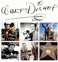 Walt Disney, he was a great and innovative man, and a wonderful artist!