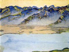 Rising mist over the Savoy Alps, 1917 Ferdinand Hodler