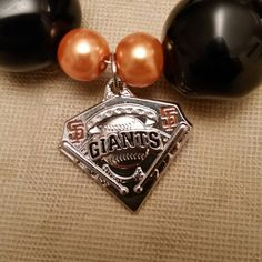 Custom SF Giants Necklace and Earring Set