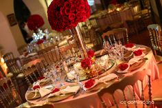red wedding with gold details