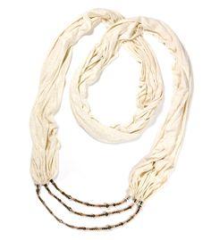 Power Within Scarf Necklace, Infinity Scarf, Spiritual Jewelry