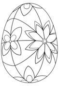 Oeuf de Pâques avec des détails Coloriage