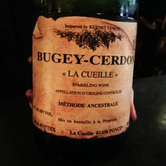 Also had this cool sparkling wine made from Gamay and Poulsard, which is worth seeking out too ($20 here).