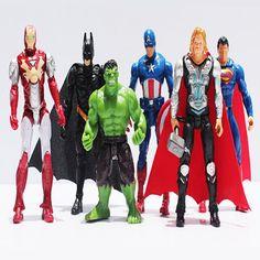 8e7393202d Click to Buy    6pcs set 10cm Super Hero The Avengers Action