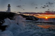 Peggy's Cove Nova Scotia... This is beautiful but the lighthouse is creepy. I've always been creeped out by lighthouses