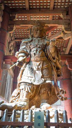 Guardian Statue at Todai-ji (Great Eastern Temple), Nara, Japan | cultivatorkitchen.com