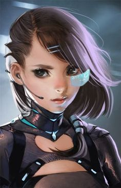 Cyberpunk girl, In a perfect world, this is what women would wear all the time. Character Concept, Character Art, Concept Art, Art Manga, Anime Art, Sci Fi Anime, Sakimichan Art, Girl Pose, 3d Fantasy