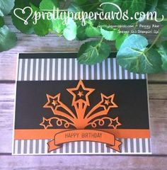 17 Paper Crafting Picks of the Week! (Mary Fish, Stampin' Pretty The Art of Simple & Pretty Cards) Birthday Blast, Man Birthday, Halloween Birthday, Birthday Wishes, Simple Birthday Cards, Handmade Birthday Cards, Stampin Pretty, Star Cards, Card Making Tips