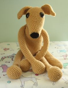 Greyhound whippet sighthound amigurumi crochet my design