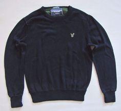 American Eagle Men's Crewneck Dark Blue Sweater Large L Cotton knit Vintage Fit #AmericanEagleOutfitters #Crewneck