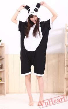 0a3bfbd21e94 Summer Panda Kigurumi Onesies Pajamas for Women   Men
