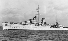 HMS Ajax (22) of the Royal Navy - British Light cruiser of the Leander class - Allied Warships of WWII - uboat.net