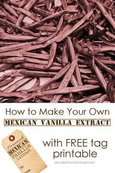 For me, knowing exactly what is in the products I use while baking for my family is very important. Maybe it's important to you too? Well then, homemade Mexican vanilla is the perfect place to start!