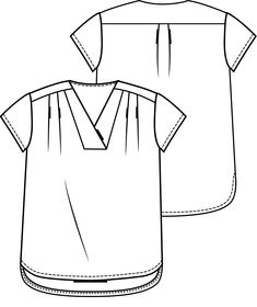 Technical Drawing, Couture, Sewing For Beginners, Tutorial, Dressmaking, Design Elements, Sewing Patterns, T Shirt, Diy