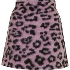 TOPSHOP Fluffy Animal Patterned A-Line Skirt (200 BRL) ❤ liked on Polyvore featuring skirts, bottoms, topshop, pink, high waist skirt, pink high waisted skirt, animal print skirt, leopard print skirt and high-waist skirt