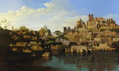 Capriccio of Buildings Belonging to the National Trust- Carl Laubin Oil on canvas, 120 x 197 cm