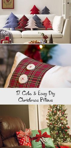 Here are some ideas for Christmas pillows which will add a holiday cheer to your home no matter what your interior style is. Christmas Truck, Vintage Christmas, Christmas Diy, Christmas Decorations, Holiday, Christmas Chalkboard, Christmas Countdown, Christmas Quilting Projects, Pottery Barn Inspired