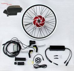 800 W Front Wheel Kit with Lithium Battery kit for ebike electric bike bicycle… New Electric Bike, Electric Tricycle, Folding Electric Bike, Electric Power, E Bicycle, Motorized Bicycle, E Bike Kit, Bike Suit, Motorised Bike