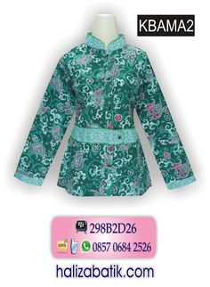 Blus Batik KaryaKu, model kerah sanghai di variasi sabuk dg kancing. Rp 58.000,- Order via WA 085706842526