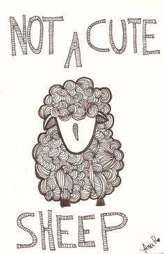 #not a #cute #sheep #illustration #draw Sheep Illustration, Cute Sheep, Embroidery Applique, Business Design, Cute Cartoon, Farm Animals, Cute Drawings, Zentangle, Illustrators