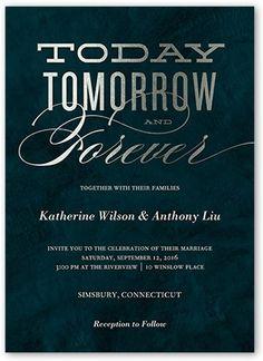 Today Tomorrow Forever Wedding Card | Wedding Invitations | Shutterfly