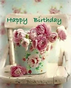 Find the most Beautiful Happy Birthday Flowers HD Images list for your special someone's birthday, You can send some cute Birthday Flowers For Her/him. Happy Birthday Words, Happy Birthday Vintage, Happy Birthday Flower, Birthday Blessings, Happy Birthday Pictures, Happy Birthday Messages, Happy Birthday Greetings, Birthday Love, Birthday Cards
