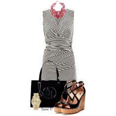 """Black, White & Touch of Pink"" by simona-risi on Polyvore"