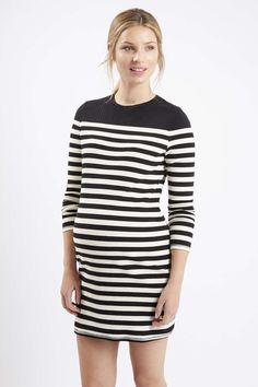 MATERNITY Monochrome Stripe Bodycon Dress - Topshop
