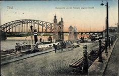 Tilsit / Ostpreußen, Hafenpartie an der Königin Louisen Brücke