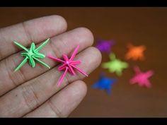 Mini Origami - How to make Sparkling Star Origami (Reuploaded) Mini Origami, Origami Star Box, Origami Envelope, Origami And Kirigami, Origami Fish, Origami Love, Modular Origami, Origami Folding, Origami Design