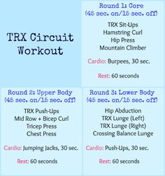 TRX Circuit Workout Plan for TRX instructors to use in their TRX Training classes. Just 30 minutes of hard work, sweat and dedication! Trx Full Body Workout, Bosu Workout, Boot Camp Workout, Circuit Workouts, Band Workouts, Weight Workouts, Strength Workout, Pilates Studio, Pilates Reformer