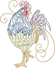 Make creative gifts for loved ones with Embroidery Central. We offer an enormous array of machine embroidery designs, like these chicken & rooster patterns! Embroidery Transfers, Machine Embroidery Patterns, Crewel Embroidery, Vintage Embroidery, Embroidery Applique, Beginner Embroidery, Embroidery Tattoo, Simple Embroidery, Embroidery Ideas