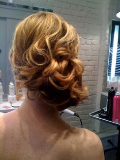 Hair for wedding Lovy style...hit up  @Rachel Lovy for an amazing up-do!
