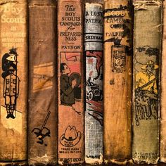 Vintage Boy Scout novels from the 1920s