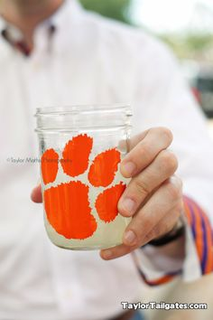LOVE this for Auburn Tailgating, nothing better than a mason jar