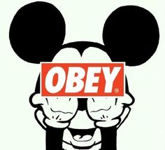 OBEY/Mickey Mouse #awesome