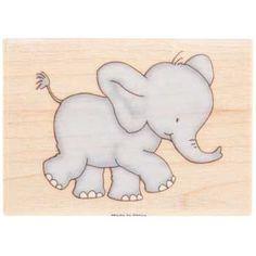 Ellis Elephant Rubber Stamp
